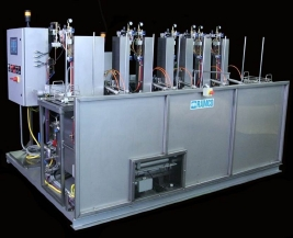 RAMCO Automated fluorescent penetrant inspection system for knees