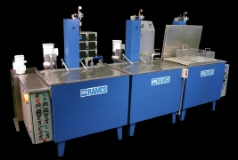 RAMCO Large ultrasonic agitation turbulation wash-rinse-dry system