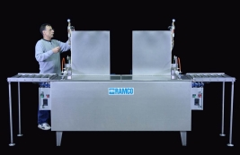 RAMCO Multi-stage all pneumatic small parts washing system