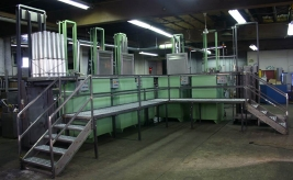 RAMCO Semi-automated vertical tube washing system