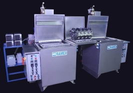 RAMCO Ultrasonic cleaning system for racing engine blocks