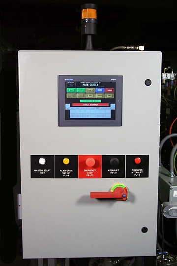 RAMCO-equipment-immersion-parts-washer-washing-automation-AMKQ16WRRD-control-panel