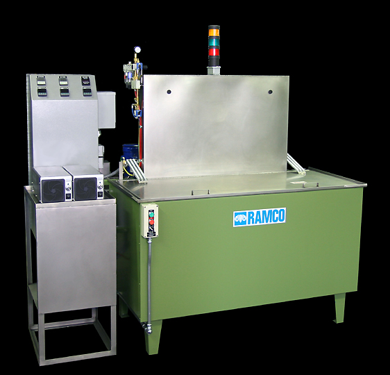 RAMCO Equipment MKT16 compact aqueous cleaning system using minimal floorspace.