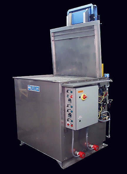 RAMCO Equipment custom CM Series Industrial Parts Washer - Paint Stripping System.
